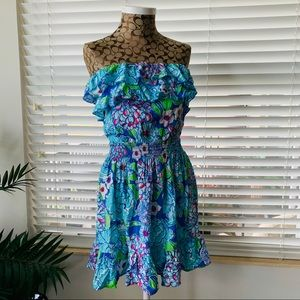 Lilly Pulitzer Mini floral Dress XS like news